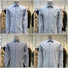 킨록앤더슨 3계절용 와이드 카라 스판 슬림핏 셔츠