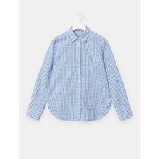 (BF1264C06Q)21SS 스카이 블루 바오 체크 클래식핏 셔츠