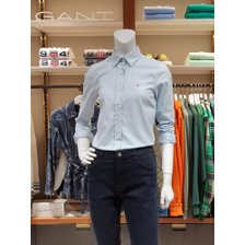 [21FW] 간트 여성 옥스포드 솔리드 셔츠 라이트블루 DI32120024 LB