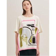 화이트 스카프 티셔츠 (BF9742C021)