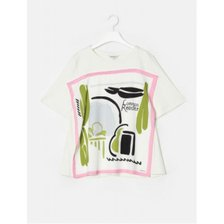 화이트 스카프 티셔츠 (BF9742C021)_추가이미지