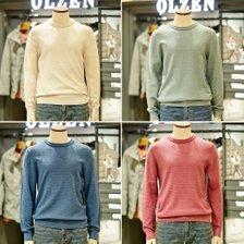 [올젠]남성 워셔블 라운드 스웨터 니트 ZPB1ER1501