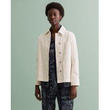 [21FW] 간트 여성 코튼 셔츠 자켓 화이트 DI32120040 WH