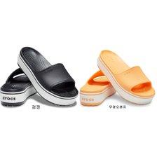 [여] 크록밴드 플랫폼 슬라이드 Blk/Whi 205631-066