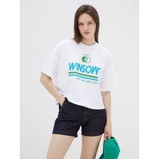 [21여름][Blue Label]COOL 그래픽 크롭 티셔츠[EM2OTH13]