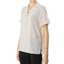 [20여름] S/S 버튼다운 브이넥 도트 셔츠(SWWSTK22070)_추가이미지