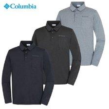 컬럼비아 남성 기능성 카라 긴팔티셔츠 YMP606