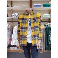 [21FW] 간트 레귤러 플란넬 체크셔츠 옐로우 DG72120072 YE