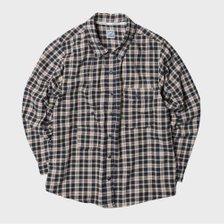 [남녀공용] CU20-4 체크 셔츠 자켓 카키 CU204OU02KH