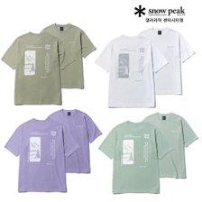 [스노우피크][센터시티점] 시티캠퍼 랜드스케이프 반팔 티셔츠 (TS41)