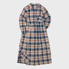 [여성용]  체크 셔츠 원피스 블루 CW204OP01BL_추가이미지