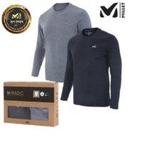 [밀레[MILLET][2PACK] 밀레 기능성 2 IN 1 라운드 티셔츠 (MVNFT301)
