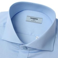 21년 S/S신상품  C/P트윌 솔리드 와이드 긴소매셔츠(슬림핏)RLSSL0-103-BU/블루_추가이미지