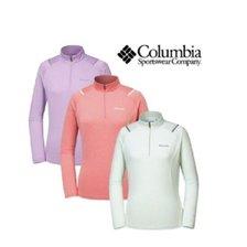 컬럼비아 여성 춘추 기본 긴팔 티셔츠 YL6802