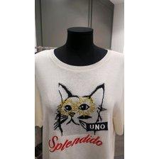 [19여름]큐빅 고양이 자수반팔 니트( SAKP43931)_추가이미지