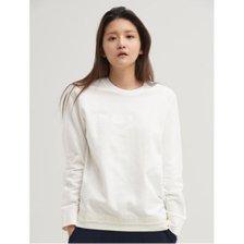 화이트 엠보싱 로고 스트링 티셔츠 (BF0141U051)