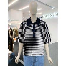 [21여름,기획상품]스트라이프 카라 티셔츠(9171322999)