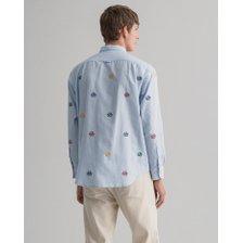 [21SS] 간트 엠브로이더리 옥스포드 셔츠 스카이블루 DG72110110 SB_추가이미지