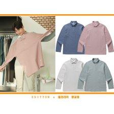 에디션앤드지 21S/S 클래식 컬러 카라 티셔츠 NEB1TT1901