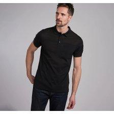 바버 남성 인터내셔날 퓨즈 블랙 폴로 티셔츠 (MML1064)