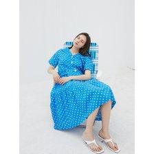 [21여름][Blue Label] 세일러 카라 러플 포인트 원피스[EM2OOP11]