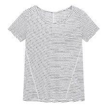[20 여름]스트라이프 패턴 린넨 티셔츠(7150240102)