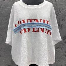 [20 여름기획]OL 크롭 레터링 티셔츠 7150240107_추가이미지