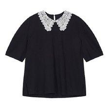 [보브][21 여름]레이스 카라 하프 슬리브 티셔츠(7151240507)