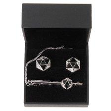 (신상품) 고급스러운 오닉스 다이아몬드 무늬 넥타이 핀 UPB01FR07S_추가이미지