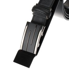 (신상품)직사각 격자 포인트 장식 자동벨트ULA05AB03L