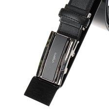 (신상품)기본 심플한 직사각 일자포인트 장식 소가죽결무늬 자동벨트ULA05AB02L