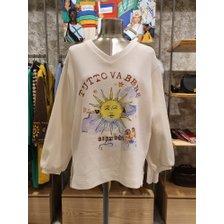 [20S/S] 해 프린팅 브이넥 티셔츠 BATS01011