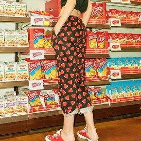 갤러리아딜 키스미 하트프린트 파자마 여성 하의 FI4PJD1659F_BLK