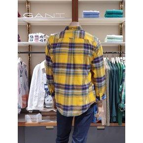 [21FW] 간트 레귤러 플란넬 체크셔츠 옐로우 DG72120072 YE_추가이미지