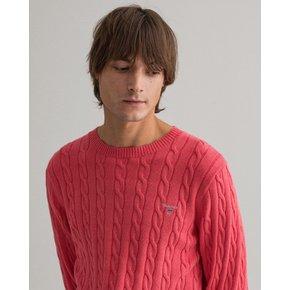 간트 남성 코튼 케이블 크루넥 스웨터 핑크 DG72110089 PI_추가이미지