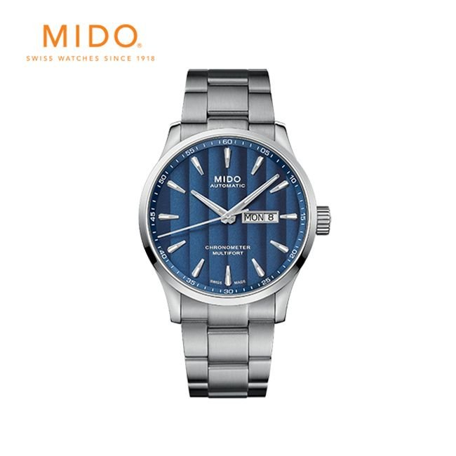[미도] 남성 메탈시계 멀티포트 크로노미터 1(Multifort Chronometer 1)M0384311104100