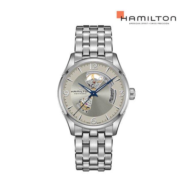 [공식] 해밀턴 H32705121 재즈마스터 오픈하트 오토 42mm 샴페인 다이얼 메탈 남성 시계