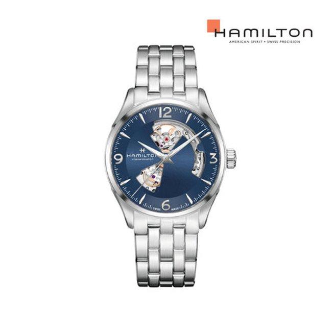 [공식] 해밀턴 H32705141 재즈마스터 오픈하트 오토 42mm 블루 메탈 남성 시계