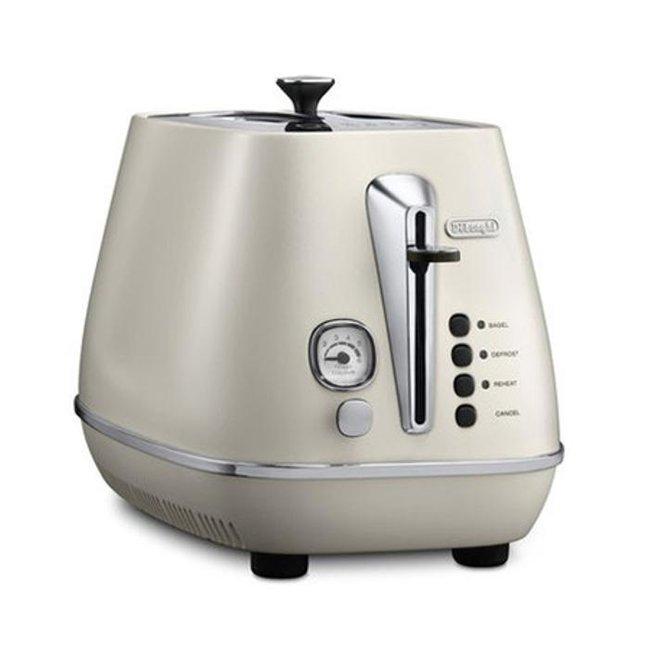 드롱기 디스틴타 토스터 CTI2003.W 화이트  2구  6단계 굽기조절  베이글 가능