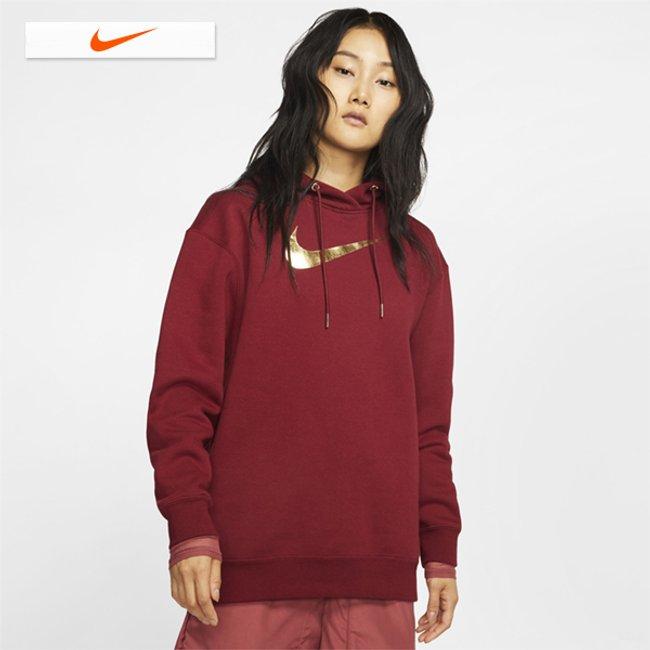 [나이키]19년 신상 우먼스 나이키 스포츠웨어 OS 샤인 후디 드레스(BV4987-677)