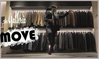 Poppin Dance In a Suit@Galleria The Luxury Department Store